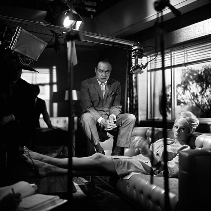 Bob Hope and Anita Ekberg at Pinewood studios, 1962