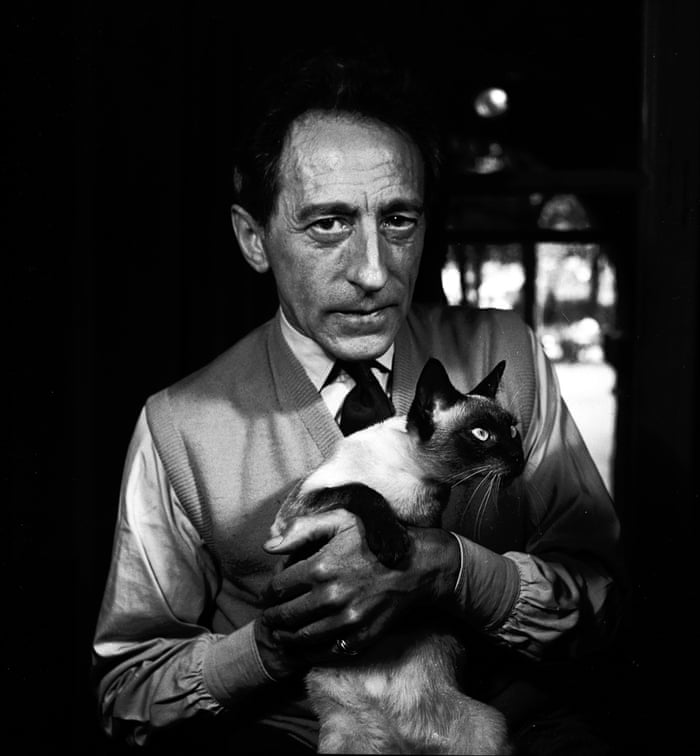 """Jean Cocteau with Madeleine, Paris, 1950. Jane: """"I was 24 and had never been to France, so with the cheek of youth I put a proposition to the Observer. If they paid my expenses, I would go to Paris (not speaking a word of French) and photograph four people - it was quite an escapade really."""""""