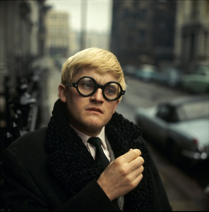 David Hockney, 1966. A rare colour photo by Jane