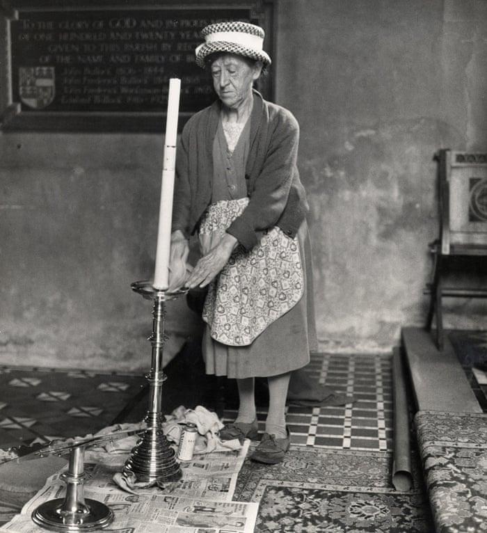 Church cleaner, Ashbrittle, Somerset, 1950s