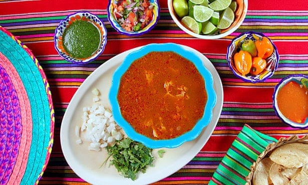 Pancita mondongo soup - a popular morning-after pick-me-up in Mexico.