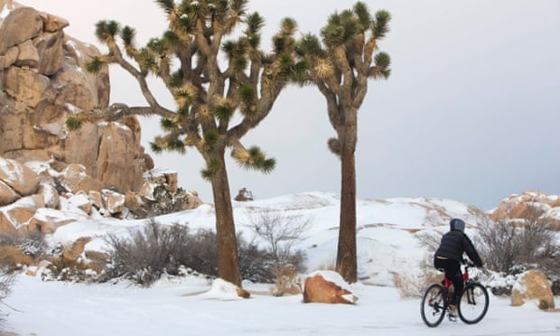 winter snow storm in CA