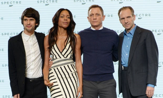 Ben Whishaw, Naomi Harris, Daniel Craig and Raph Fiennes