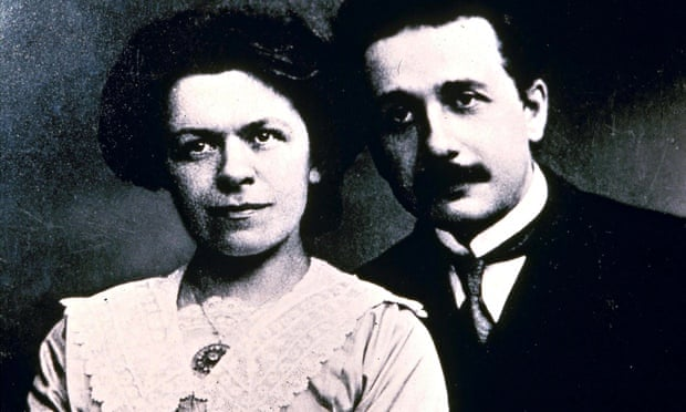 Albert Einstein with his wife Mileva. Photograph: /Rex Features