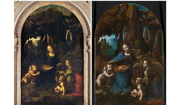 Left, the French painting, and right, the British.