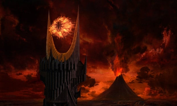 The Eye of Sauron hovers over Mount Doom in Peter Jackson's adaptation of JRR Tolkien's the Lord of the Rings. PR