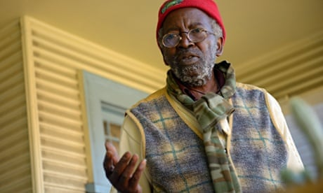 Kokavulu Lumukanda is under threat of eviction due to gentrification in Oakland, California. Photograph: Stephen McLaren Stephen Mclaren/For the Guardian
