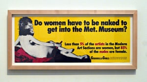 The Guerrilla Girls call themselves the 'conscience of the art world'.