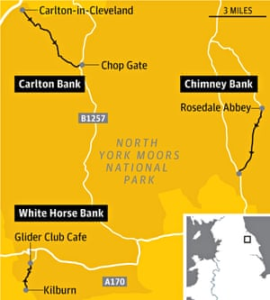 North Yorks Tour de France map