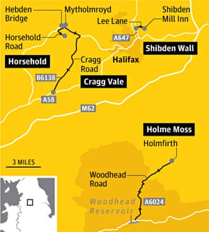West Yorks Tour de France map