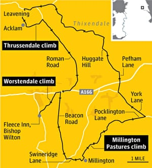 Wolds Tour de France map
