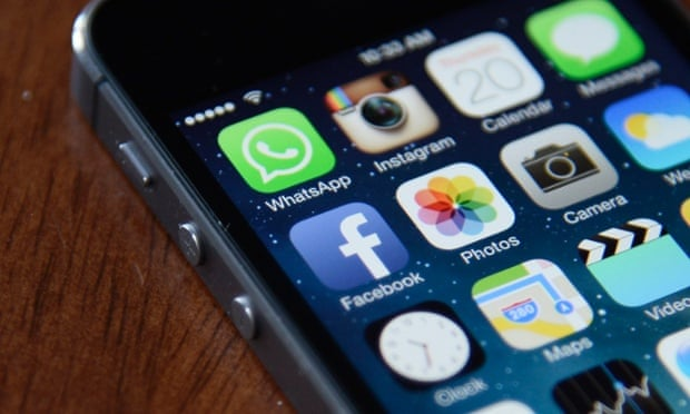 Finger pointed at Facebook iPhone app as battery drain culprit. Photograph: Andrew Gombert/EPA