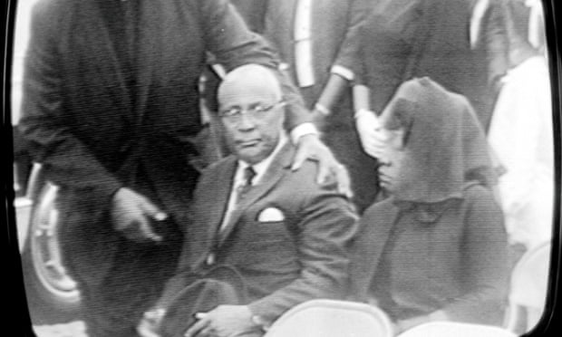 Reverend Martin Luther King Sr and Alberta King at the funeral of Martin Luther King Jr.
