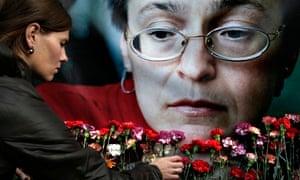 Anna Politkovskaya makeshift memorial