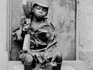 A young soldier of the Popular Movement for the Liberation of Angola (MPLA) in Huambo.