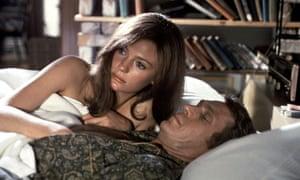 Jacqueline Bisset and Steve McQueen in Bullitt, 1968.