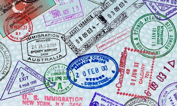 visa stamps worldwide