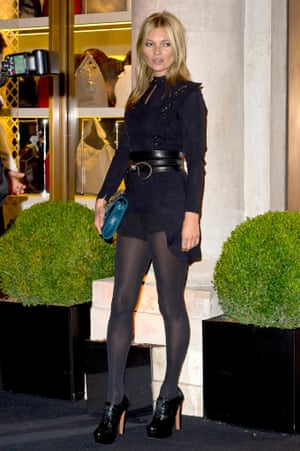 Kate Moss wearing opaque tights in September 2013.
