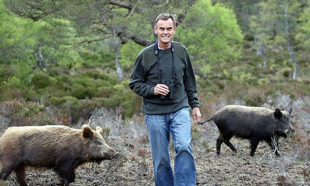 Paul Lister who has introduced wild boar and elk on his estate at Alladale, Sutherland, Scotland.