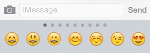 Emojis in iMessage