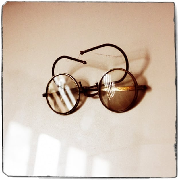 Mahatma Ghandi's glasses at the Mahatma Smitri Museum.