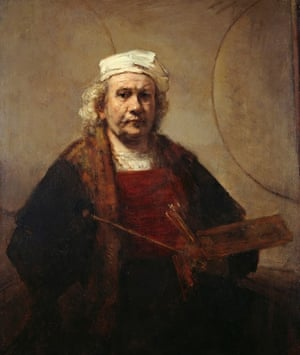Self-Portrait With Two Circles (c 1665-69) - Rembrandt