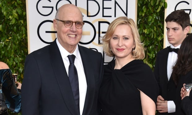 Jeffrey Tambor, left, and Kasia Ostlun at the Golden Globes.
