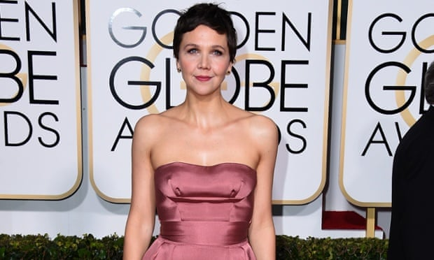 Maggie Gyllenhaal at the Golden Globes.