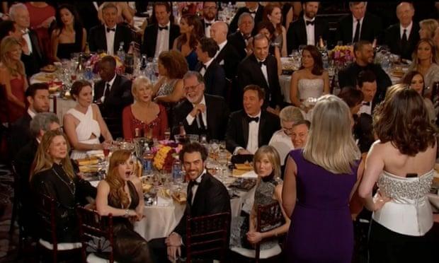 Golden Globes Bill Cosby crowd reaction shot