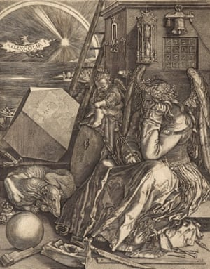 Johan Wierix; after Albrecht Durer, Melancolia. Engraving on paper, Scottish National Gallery