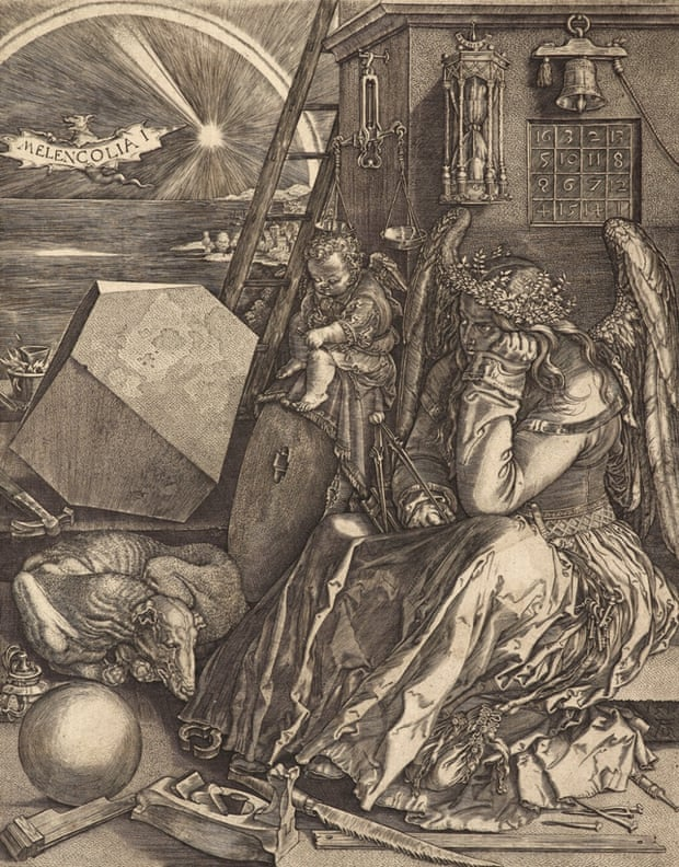 Johan Wierix; after Albrecht Durer, Melancolia. Engraving on paper, Scottish National Gallery