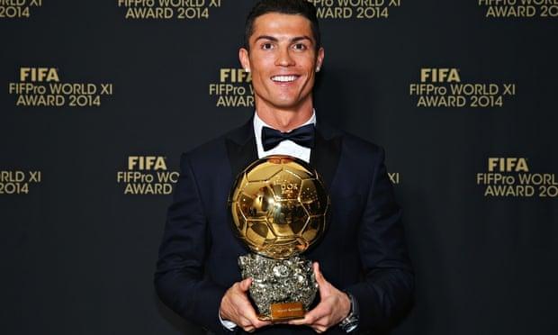 Cristiano Ronaldo wins Ballon d'Or with Lionel Messi a distant second