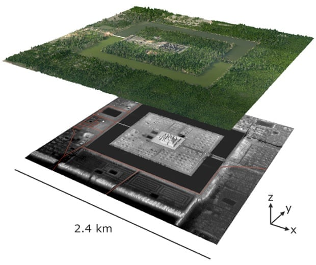 A remote sensing image of Angkor Wat reveals how much of the surrounding city lies hidden.