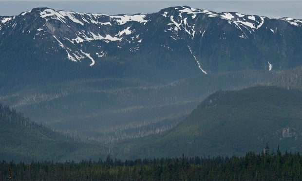 Mountains in British Columbia. Glaciers in the region are set to shrink 75% in area by 2100, compared to 2005 levels.