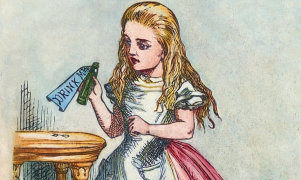 Alice with the magic bottle. ca. 1865-1900