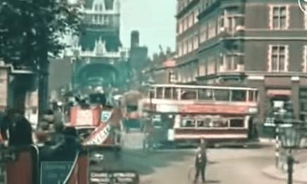 London in 1927, in colour