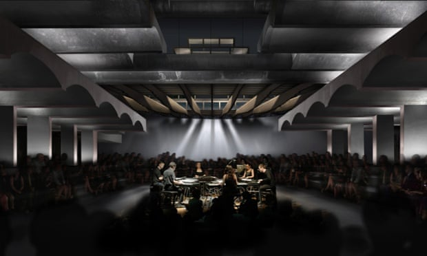 … and a visualisation of what the same space might look like in the future as an arts and public events centre.