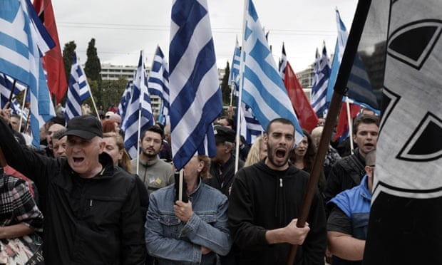 Golden Dawn supporters at a rally in June 2014.
