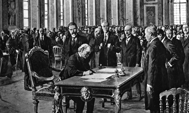 Versailles treaty signing