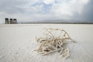 Lake Urmia in Iran on 8 August 2010