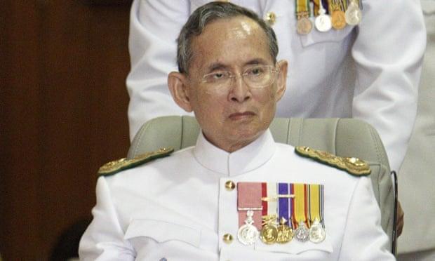 Thai King Bhumibol Adulyadej.