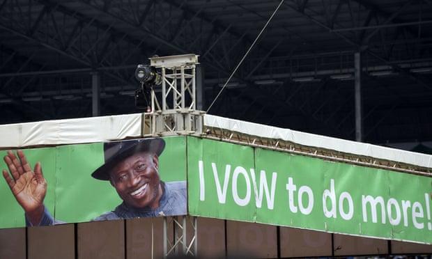 goodluck jonathan banner port harcourt nigeria