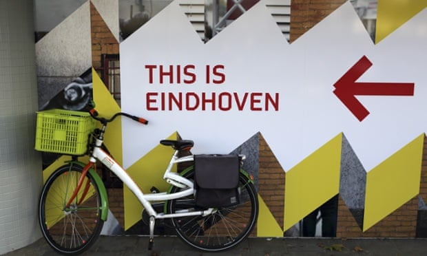 Eindhoven's typeface can be seen all over the city. Photograph: Stuart Forster/Rex