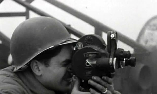 A US combat cameraman, featured in Night Will Fall. Photograph: Richard Blanshard/Channel 4