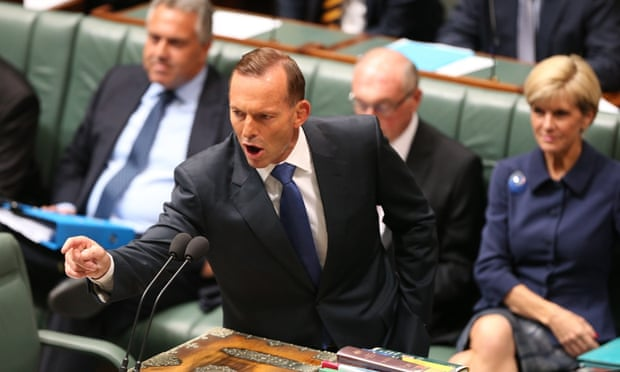 Tony Abbott during question time on Tuesday 10 February