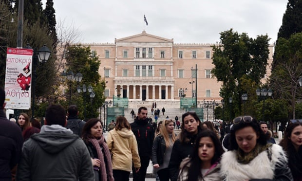 The Greek Parliament in Athens.