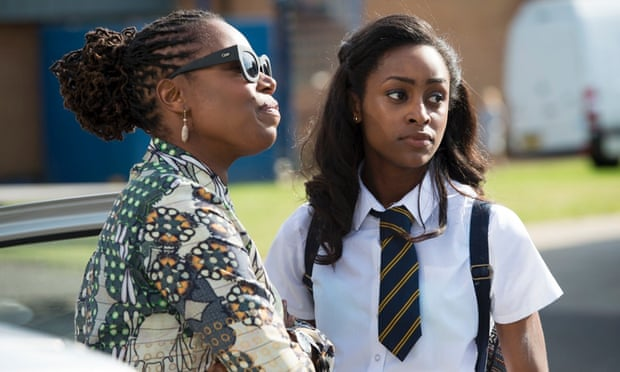 All change? Michele Austin and Simona Brown in the BBC adaptation of JK Rowling's A Casual Vacancy. Photograph: Steffan Hill/BBC/Bronte