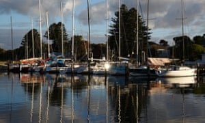 Yachts on the Moyne River in Port Fairy.