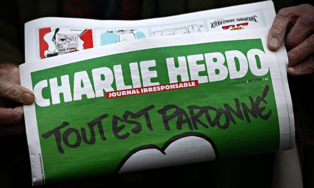 First Edition Of Charlie Hebdo Published Since Paris Terror Attacks Arrives In The UK