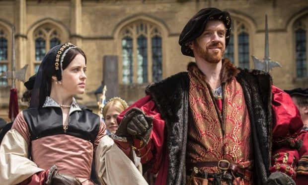Claire Foy and Damian Lewis as Anne Boleyn and King Henry VIII in the BBC's adaptation of Wolf Hall.